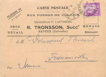"""/ CPSM FRANCE 14 """"Bayeux"""" / QUINCAILLERIE / CARTE PUBLICITAIRE"""