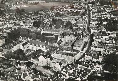 """/ CPSM FRANCE 14 """"Bayeux, l'hôpital et la rue Nesmond"""""""