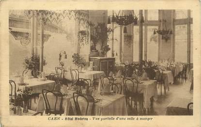 """/ CPA FRANCE 14 """"Caen, hôtel Moderne, vue partielle d'une salle à manger"""""""