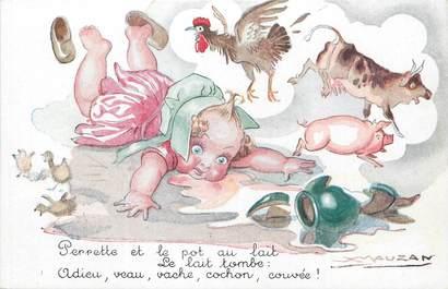 """/ CPA ILLUSTRATEUR MAUZAN """"Perrette et le pot au lait"""""""