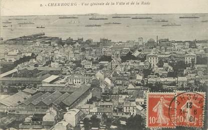 """/ CPA FRANCE 50 """"Cherbourg, vue générale de la ville et de la Rade"""""""