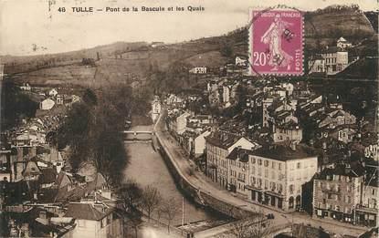 """/ CPA FRANCE 19 """"Tulle, pont de la bascule et les quais"""""""