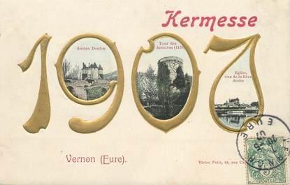 "/ CPA FRANCE 27 ""Vernon, kermesse 1907"""