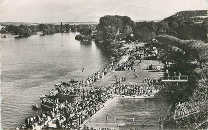"/ CPSM FRANCE 27 ""Vernon, les bords de la Seine, la piscine"""