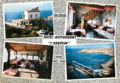 """/ CPSM FRANCE 66 """"Collioure, hôtel restaurant l'Arapède"""""""