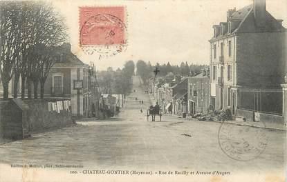 """/ CPA FRANCE 53 """"Château Gontier, rue de Razilly et avenue d'Angers"""""""