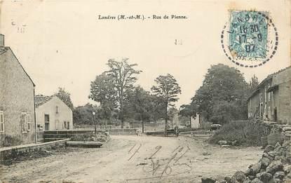"""/ CPA FRANCE 54 """"Landres, rue de Pienne"""""""
