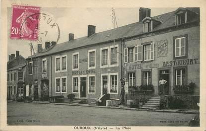 """/ CPA FRANCE 58 """"Ouroux, la place"""""""