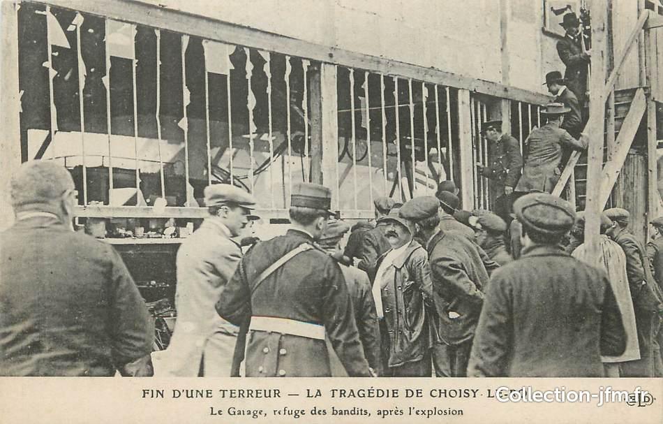Cpa france 94 la trag die de choisy le roi le garage for Garage ad les essarts le roi
