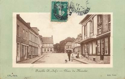 """/ CPA FRANCE 76 """"Fréville, place du marché"""""""