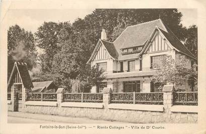 """/ CPA FRANCE 76 """"Fontaine le Dun, riants Cottages, villa du Dr Courbe"""""""