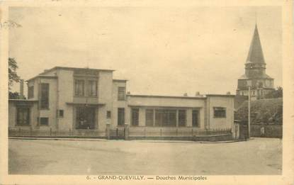 "/ CPA FRANCE 76 ""Grand Quevilly, douches municipales"""