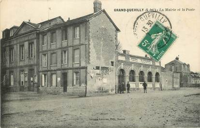 """/ CPA FRANCE 76 """"Grand Quevilly, la mairie et la poste """""""