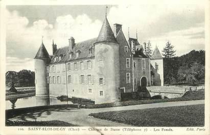 """/ CPA FRANCE 18 """"Saint Eloi de Gy, château de Dame, les fossés"""""""