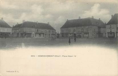 "/ CPA FRANCE 18 ""Henrichemont, place henri IV"""