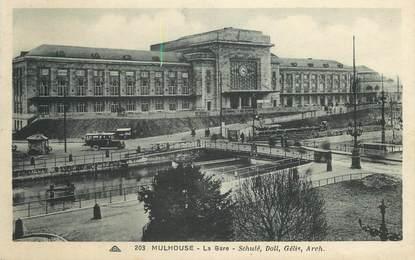 """/ CPA FRANCE 68 """"Mulhouse, la gare"""""""