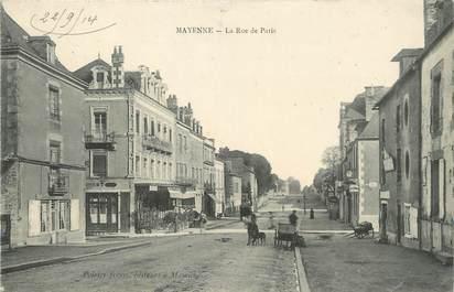 """/ CPA FRANCE 53 """"Mayenne, la rue de Paris"""""""
