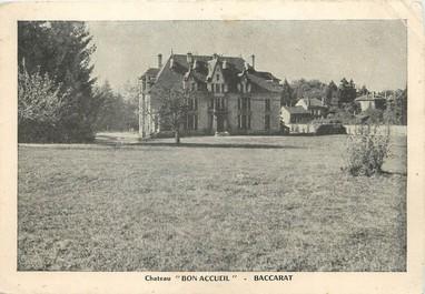 """/ CPSM FRANCE 54 """"Baccarat, château bon accueil"""""""