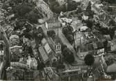 """52 Haute Marne / CPSM FRANCE 52 """"Bourbonne les Bains, station Thermale, vue aérienne sur l'église"""""""