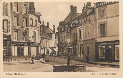 """/ CPA FRANCE 51 """"Sézanne, place de la république"""""""