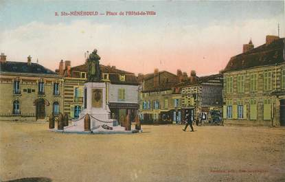 """/ CPA FRANCE 51 """"Sainte Menehould, place de l'hôtel de ville"""""""