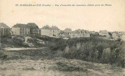 """/ CPA FRANCE 85 """"Saint Gilles sur Vie, vue d'ensemble des nouveaux châlets"""""""