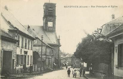 """/ CPA FRANCE 68 """"Massevaux, rue principale et l'église"""""""