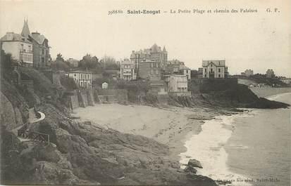 """/ CPA FRANCE 35  """"Saint Enogat, la petite plage et chemin des Falaises"""""""