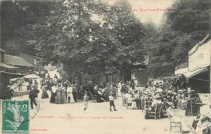 """/ CPA FRANCE 65 """"Capvern, baigneurs sur la place des Thermes"""""""