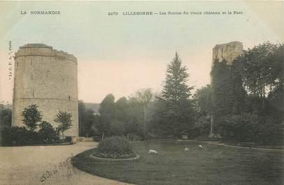 """/ CPA FRANCE 76 """"Lillebonne, les restes du vieux château et le parc"""""""