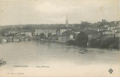 "/ CPA FRANCE 16 ""Confolens, Saint Maxime"""