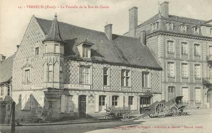 """/ CPA FRANCE 27 """"Verneuil, la tourelle de la rue du Canon"""""""