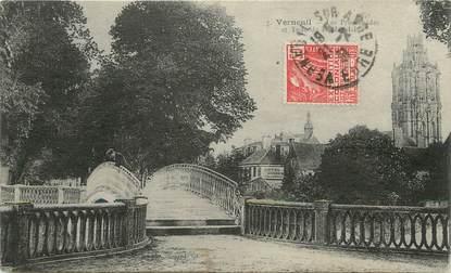 """/ CPA FRANCE 27 """"Verneuil, les promenades et tour de la Madeleine"""""""