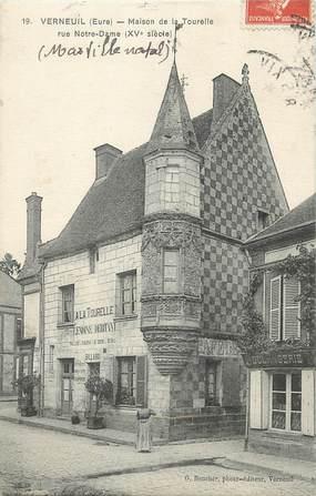 """/ CPA FRANCE 27 """"Verneuil, maison de la Tourelle"""""""