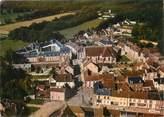 """28 Eure Et Loir / CPSM FRANCE 28 """"La Ferté Vidame, vue aérienne, château Saint Simon et l'église"""""""