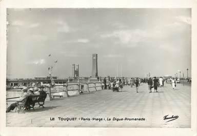 """/ CPSM FRANCE 62 """"Le Touquet Paris Plage, la digue Promenade"""""""