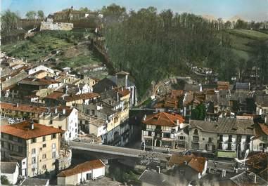 """/ CPSM FRANCE 64 """"Saint Jean Pied de Port, le Nive, l'église et la citadelle"""""""