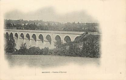 "/ CPA FRANCE 91 ""Brunoy, viaduc d'Epinay"""