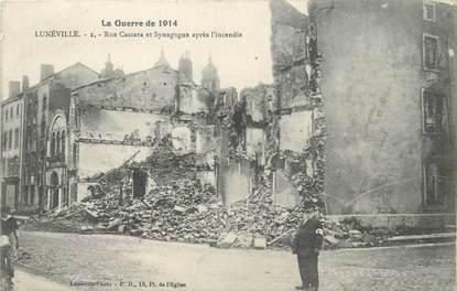 """/ CPA FRANCE 54 """"Luneville"""" / SYNAGOGUE / GUERRE DE 1914"""