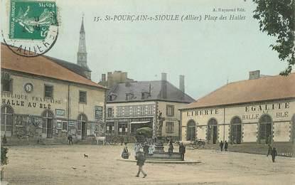 """/ CPA FRANCE 03 """"Saint Pourçain sur Sioule, place des Halles"""""""