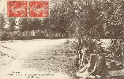 """/ CPA FRANCE 03 """"Saint Pourçain sur Sioule, le barrage"""" / LAVEUSE"""