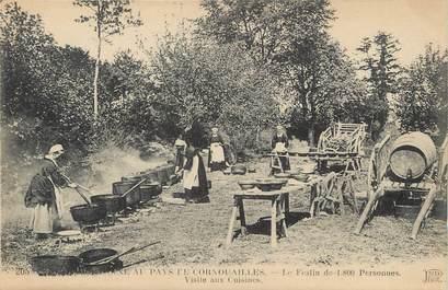 """/ CPA FRANCE 29 """"Noce Bretonne au pays de Cornouailles, festin de 1800 personnes, visites aux cuisines"""""""
