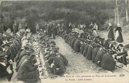 """/ CPA FRANCE 29 """"Noce Bretonne au pays de Cornouailles, le festin, côté des hommes"""""""