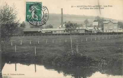 """/ CPA FRANCE 76  """"Neufchâtel en Bray, les prés et l'usine des laits purs"""""""