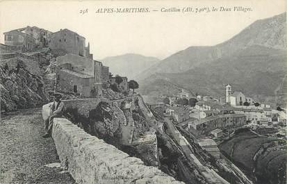 """/ CPA FRANCE 06 """"Castillon, les deux villages"""""""