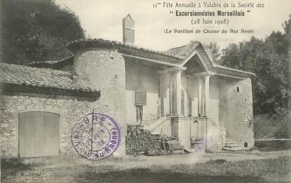 """/ CPA FRANCE 13 """"Excursionnistes Marseillais, le pavillon de chasse du roi"""""""