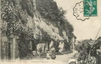 "/ CPA FRANCE 37 ""Vouvray, les Patys, habitations Troglodytes"""