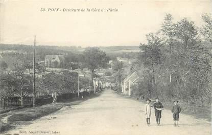 """/ CPA FRANCE 80 """"Poix, descente de la côte de Paris"""""""