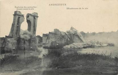 """/ CPA FRANCE 42 """"Andrézieux, effondrement de la pile"""""""