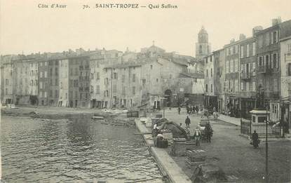 "/ CPA FRANCE 83 ""Saint Tropez, quai Suffren"""